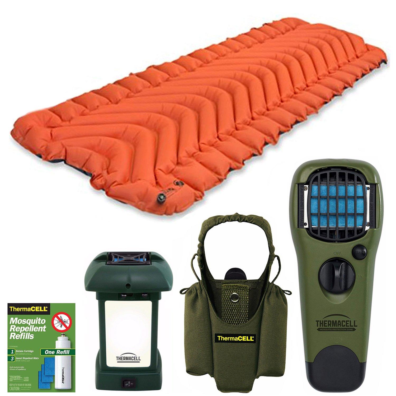 Klymit Insulated Static V Sleeping Pad (orange / grey) bundle