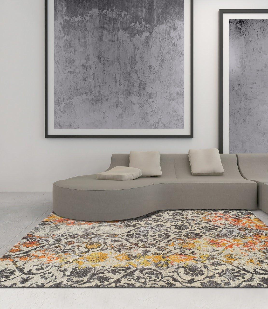 Dalyn Rugs Modern Greys Rug, 5 3 x 7 7 , Citron