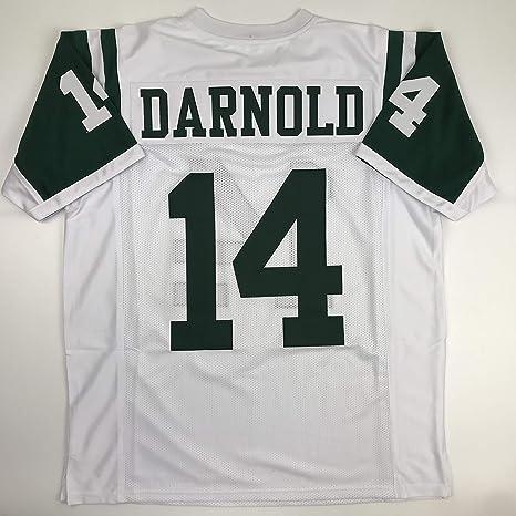 the latest 6ebc2 e5b6e Amazon.com: Unsigned Sam Darnold New York White Custom ...