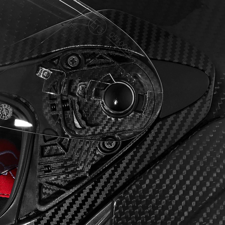 Schwarz Klickverschluss XS 1.500 g XL Carbonhelm mit Sonnenblende kratzfestes Visier effektive Bel/üftung Nexo Klapphelm Motorradhelm Helm Motorrad Mopedhelm Carbon Travel II klares gro/ßes