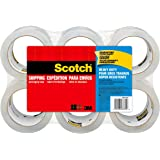 "Scotch Heavy Duty Shipping Packaging Tape, 1.88"" x 54.6 Yards, 3"" Core, Clear, Great for Packing, Shipping & Moving, 6 Rolls (3850-6)"