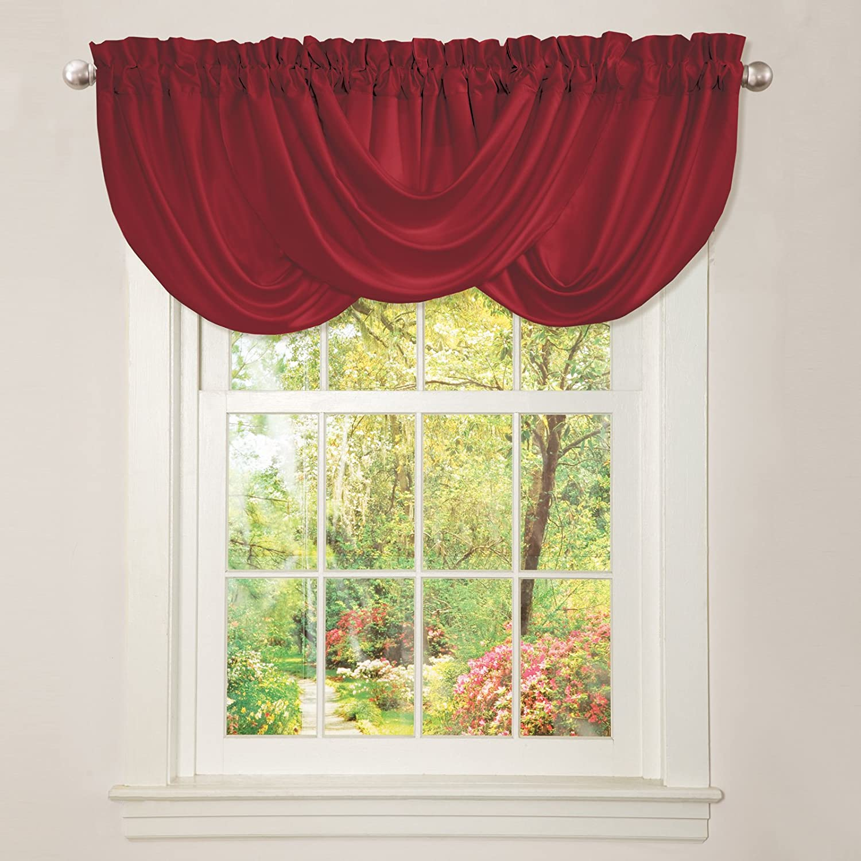 Curtain Red Lush Decor Lucia Lit