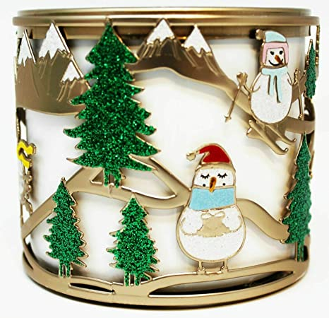 Bath and Body Works White Barn Holiday Ornament 3 Wick Candle Sleeve Holder