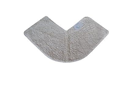 Cazsplash lusso quadrante tappetino doccia angolare cotone crema