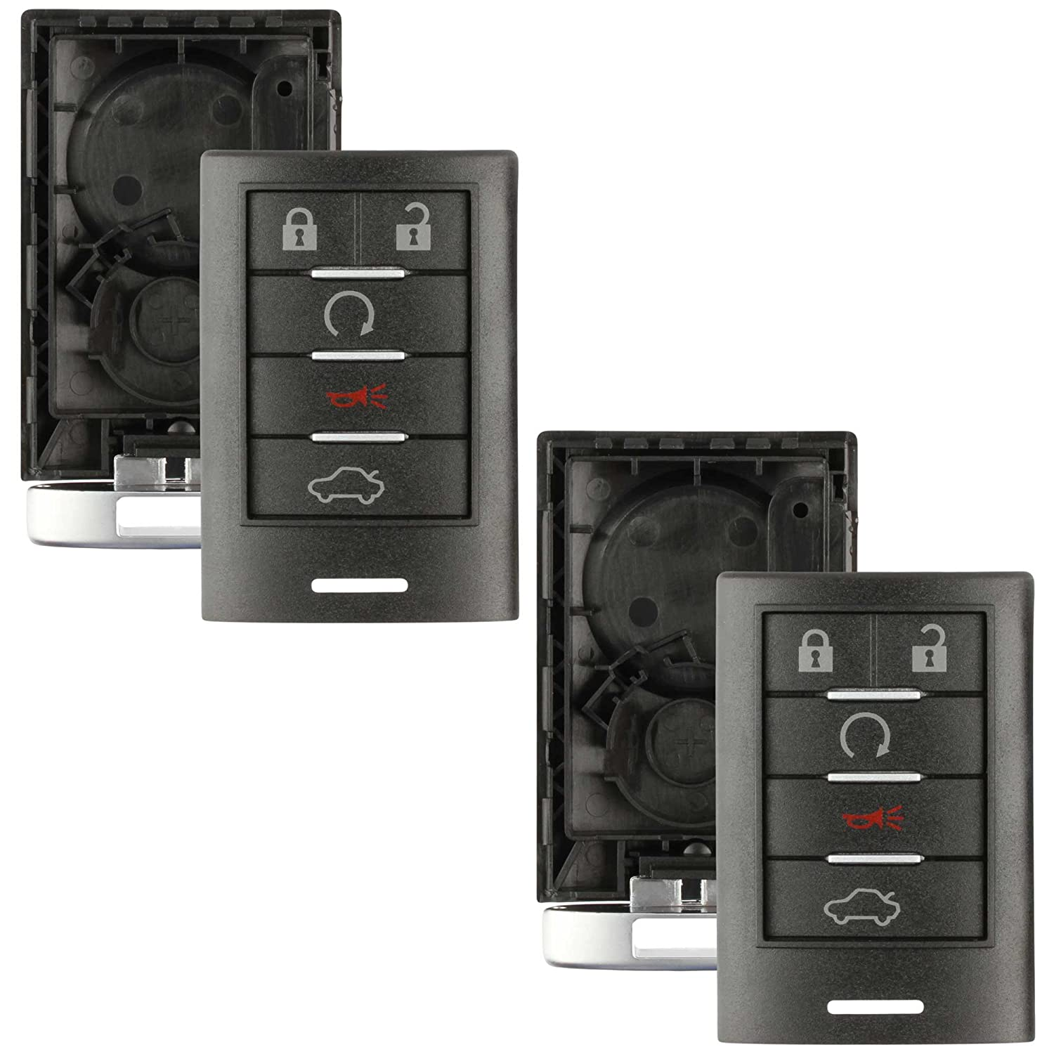2 Pack Discount Keyless Replacement Shell Case and Button Pad with Emergency Key Insert Compatible with M3N5WY7777A
