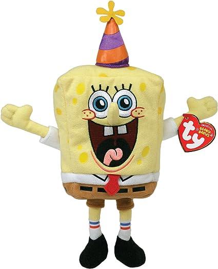 Amazon.com: TY Beanie Baby – Cumpleaños Bob Esponja – Bob ...