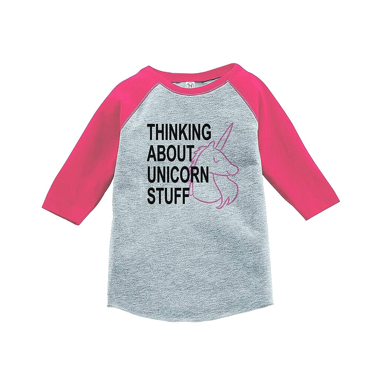 7 ate 9 Apparel Kids Unicorn Raglan Tee Pink