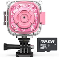 AKAMATE Kids Action Camera Waterproof Video Digital Children Cam 1080P HD Sports Camera Camcorder for Boys Girls, Build…