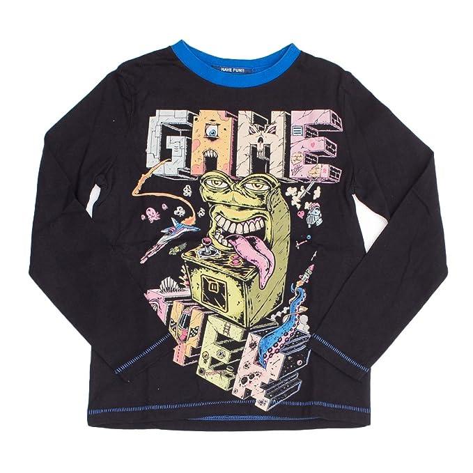 0114b47ce992 Desigual T-Shirt Manica Lunga Bambino TS George 18WBTK04 Graphic Tee 7 8  Nero  Amazon.it  Abbigliamento