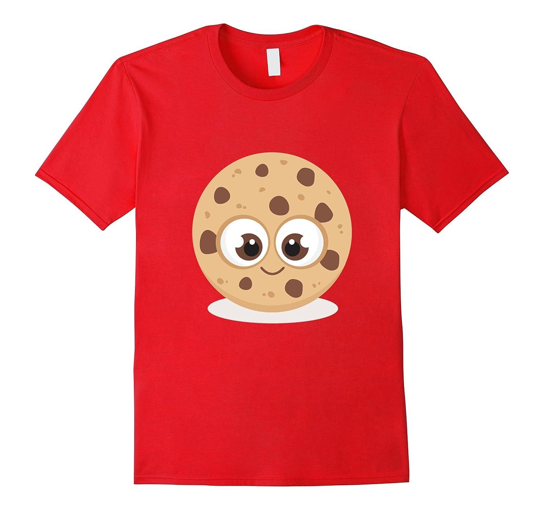 Cute Cookie T-Shirt Chocolate Chip Emoji Shirt-FL