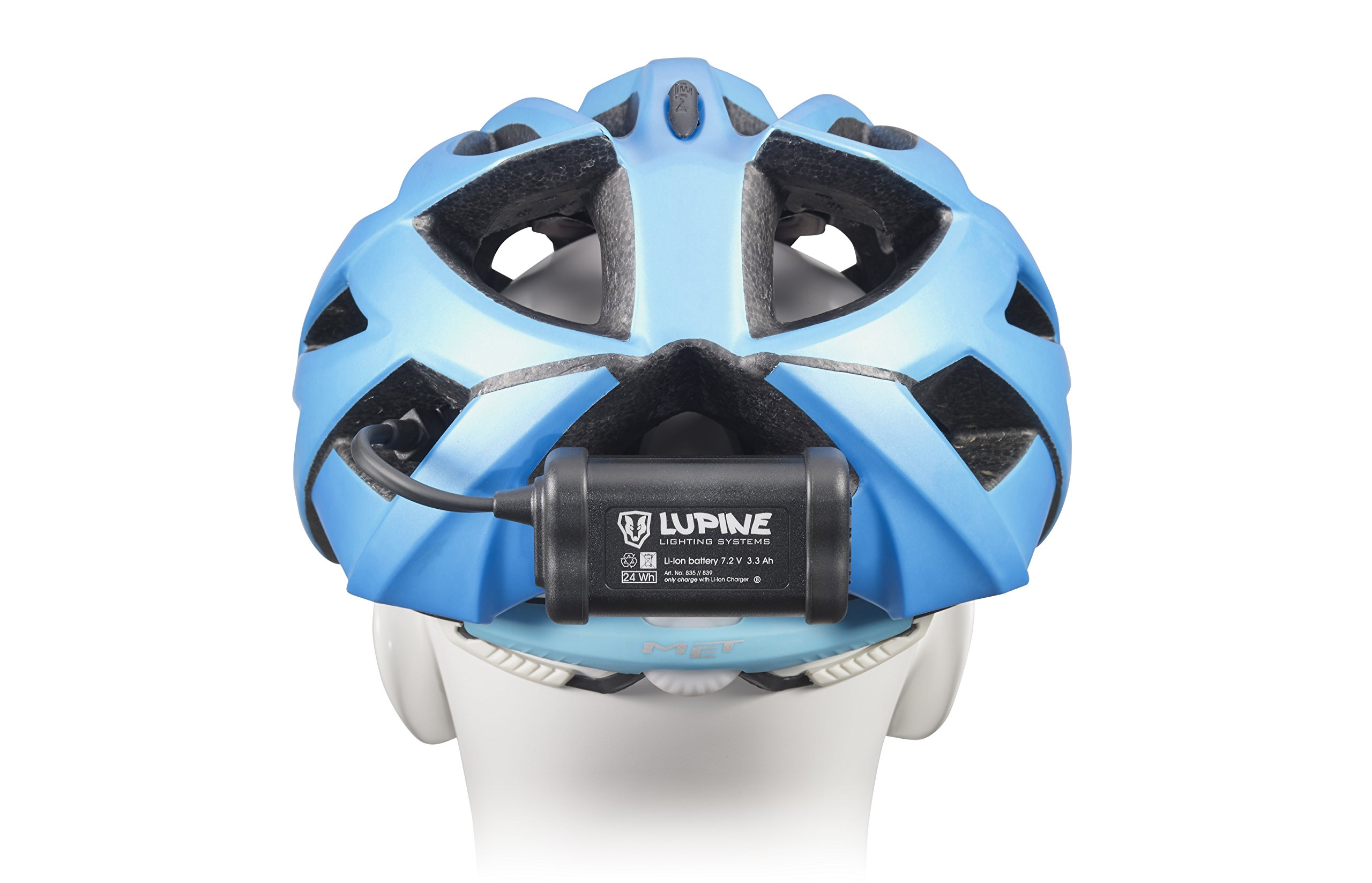 Lupine Lighting Systems Piko R 4 1800 Lumen 3.3 Ah hardcase battery with velcro, helmet mount with velcro, Wiesel charger, 120cm extension cable, Bluetooth Remote + mount (2018 Model) by Lupine Lighting Systems (Image #3)