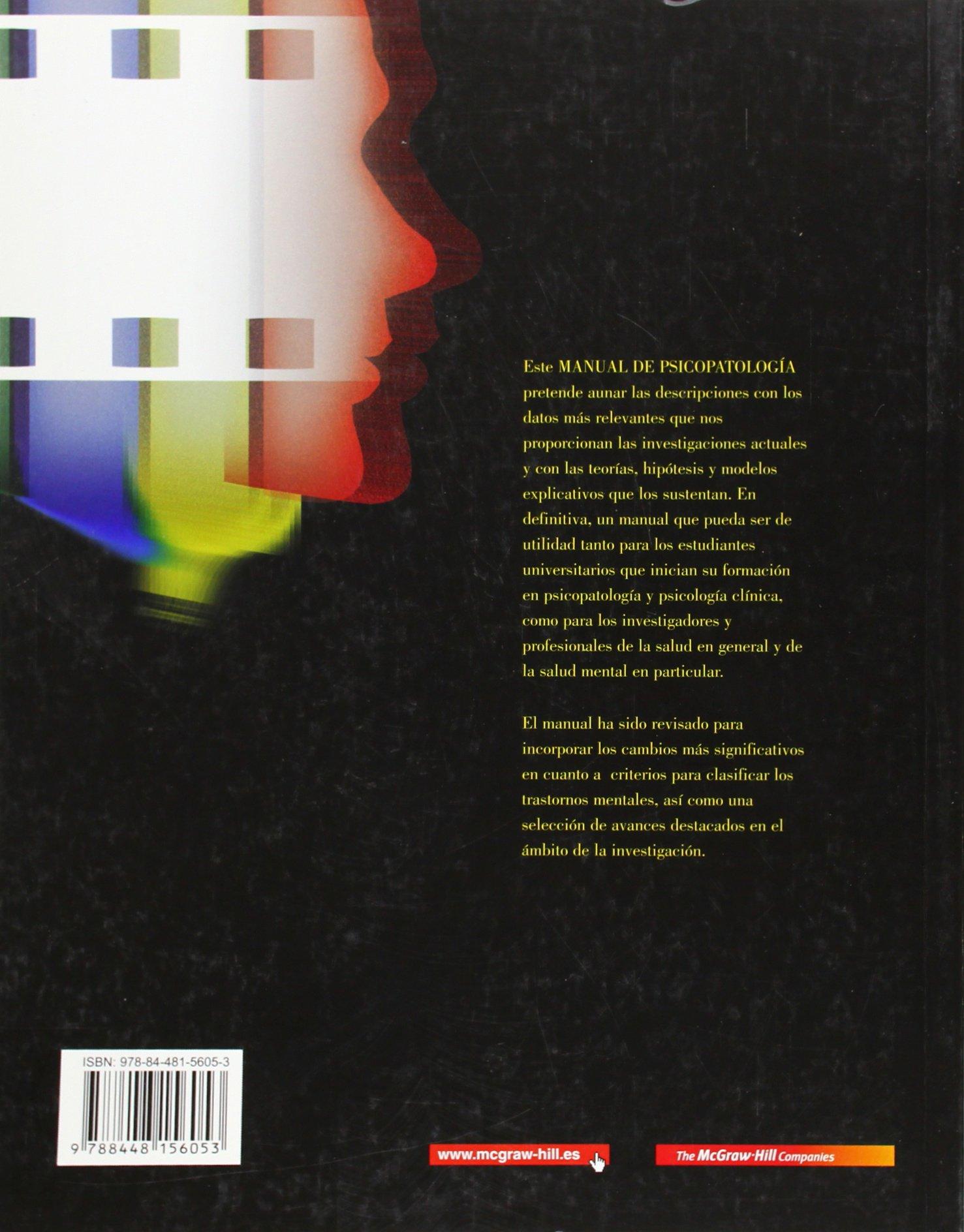 manual de psicopatologia vol i edicion revisada y actualizada rh amazon es descargar manual de psicopatologia volumen 1 manual de psicopatología volumen ii (1a texto revisado)