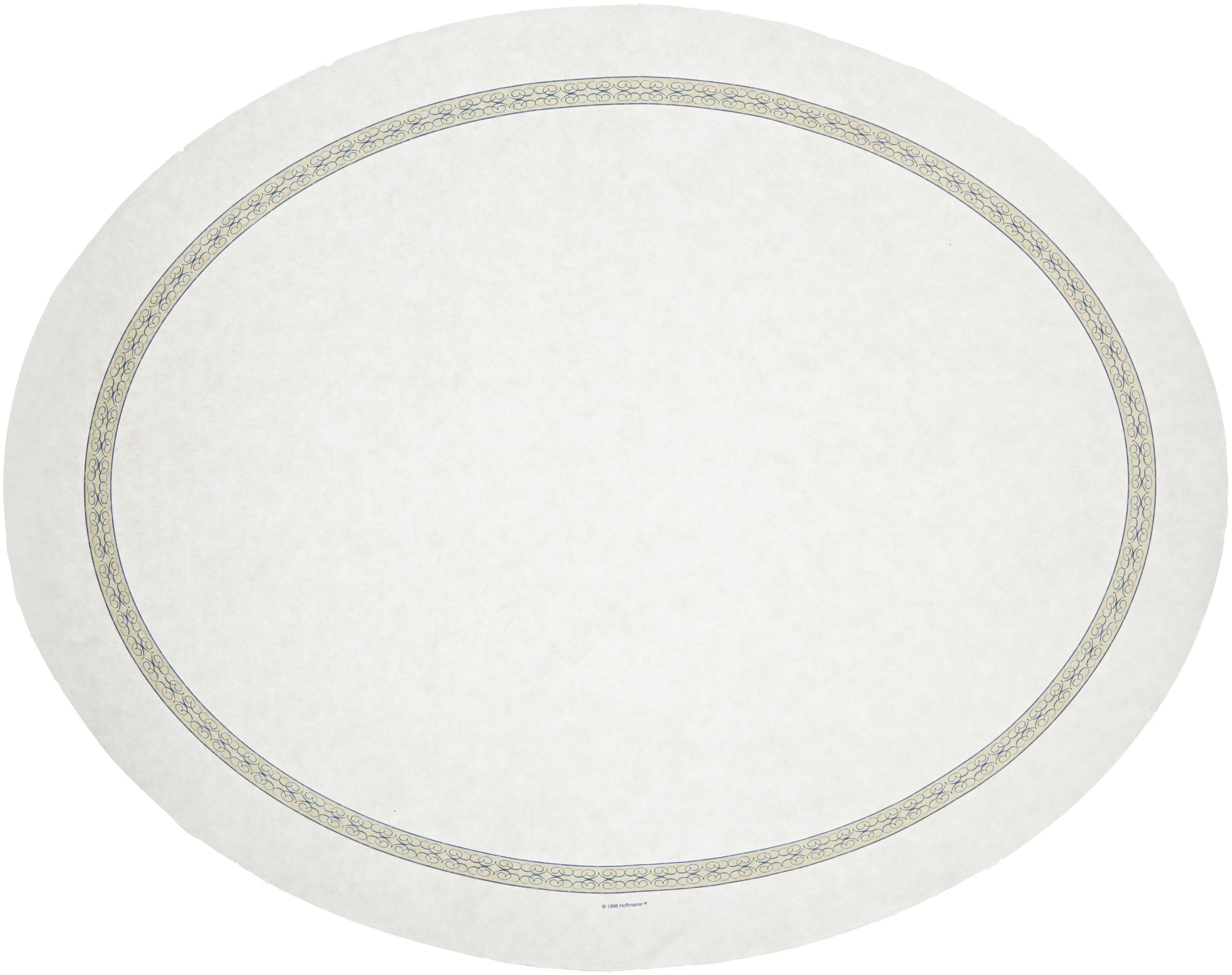 Hoffmaster 428970 Oval Nonskid Traymat, 24'' Length x 19'' Width, Regal (Case of 500)