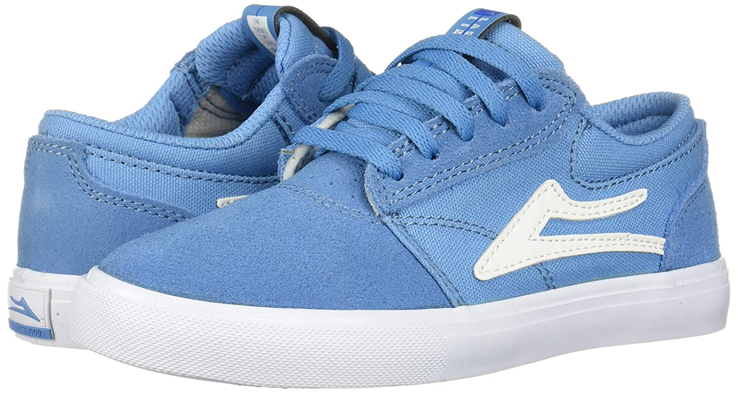 Lakai Footwear Griffin Kids Light Blue Suedesize 1 Tennis Shoe