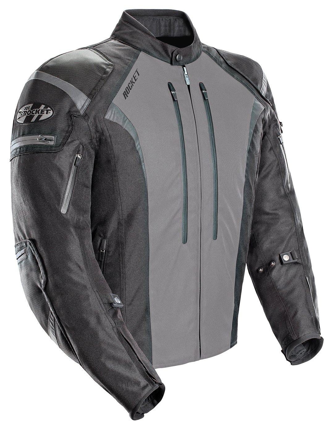 Joe Rocket Atomic Men's 5.0 Textile Motorcycle Jacket (Grey, XXX-Large)