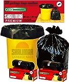 Shalimar Premium OXO - Biodegradable Garbage Bags (Medium) Size 48 cm x 56 cm 4 Rolls (120 Bags) ( Black Color )