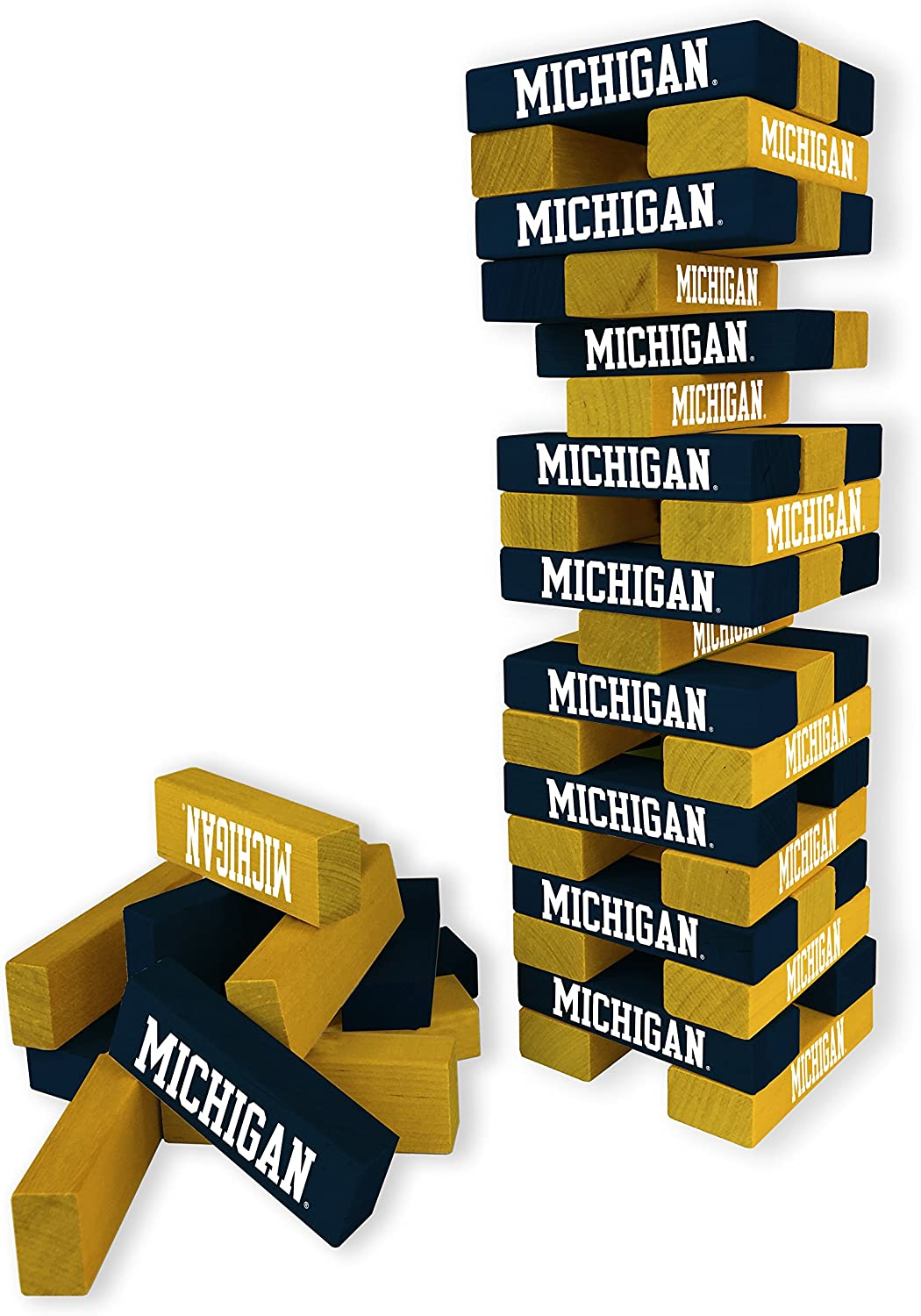 """Wild Sports NCAA College Table Top Desk Stackers Game, 3"""" x 1"""" x .5"""""""