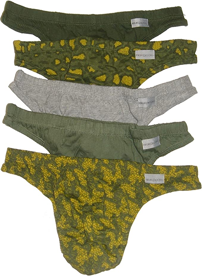 Pack of 5 Colors may vary Fruit of the Loom Mens Wardrobe  Bikini Briefs