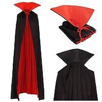 papapanda Vampiro Adulti Collo Alto Mantello Rosso Nero 170cm