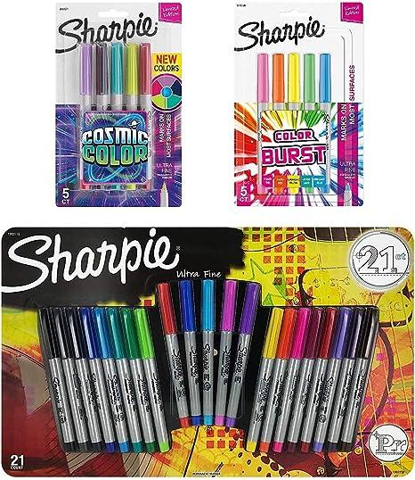 Sharpie Ultra Fine Point Marcador permanente Set, varios colores ...