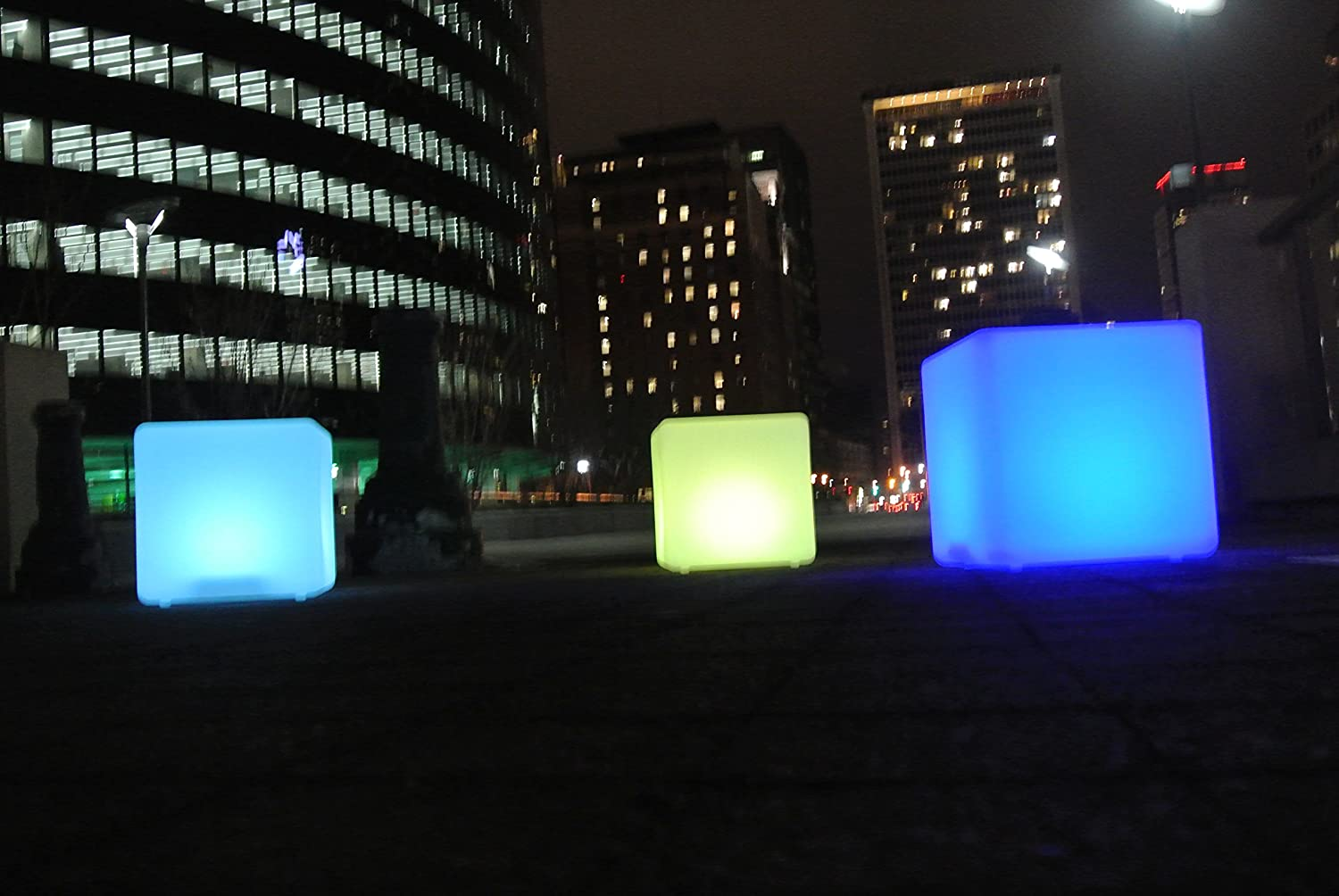 amazon com outdoor led light cube 16 waterproof ip68 rated
