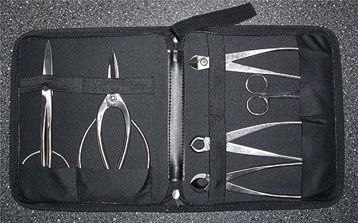 British Bonsai Bonsaï 7 pièces en acier inoxydable Tool Set Kit emporte-pièces-Taille S: Amazon.es: Jardín