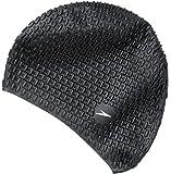 Speedo Badekappe Bubble - Gorro de natación ( burbuja ) , color negro, talla Talla única