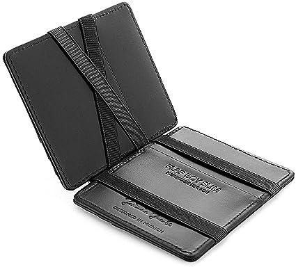 a2f960e6beb5 JAIMIE JACOBS Men Magic Wallet Flap Boy Slim - The Original - RFID Blocking  Genuine Leather Credit Card Holder Front Pocket Sleeve (Black)  Amazon.co.uk   ...