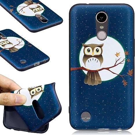 Guran® Carcasa Silicona TPU Protectora Funda Case para LG K10 2017 Smartphone Bumper Shock Cover Caso - Noctámbulo