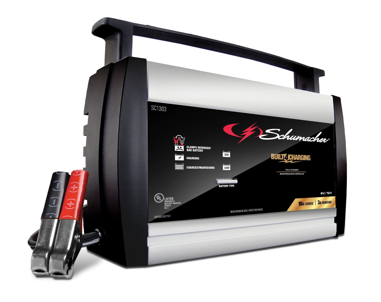 Schumacher SC1303 10A 6V/12V Automatic Battery Charger by Schumacher (Image #1)