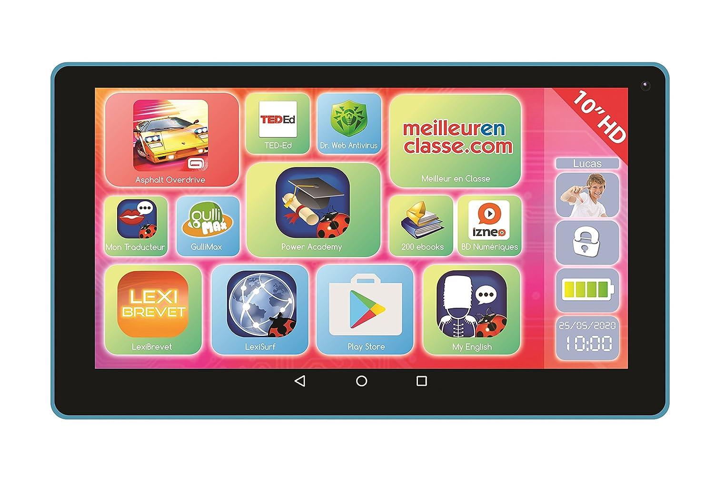 'lexitab 10–Tablet Touchscreen Kinder, Inhalt lehrreich und Witziger Kontrolle Parental–Android, Wifi, Bluetooth, Google Play, Youtube–Ref. mfc512 LEXIBOOK MFC512FR