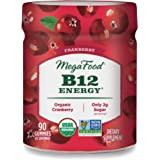 MegaFood, Certified Organic B12 Energy Cranberry Gummies, Soft Chew Vitamin B12 Supplement for Cellular Energy Support…