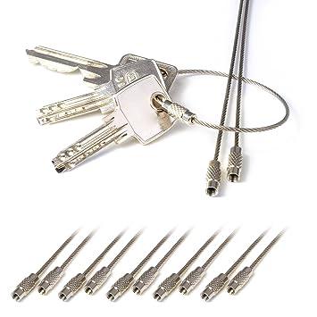 10er Set Drahtring aus Edelstahl, Schlüsselring, Schlüssel Drahtring ...