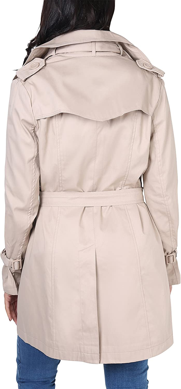 KRISP® Women Trench Coat Belted Tailored Mac Button Down Jacket