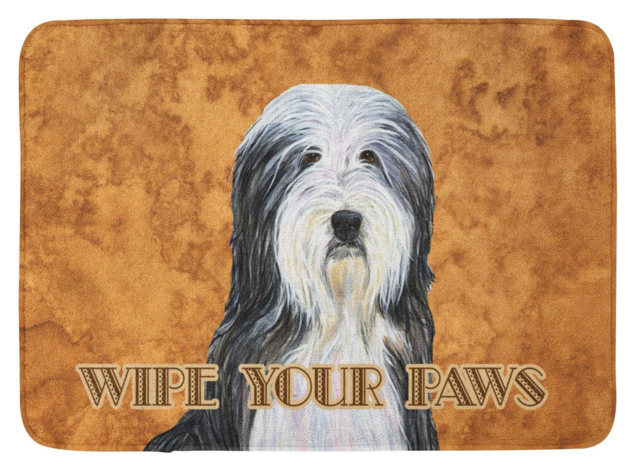 Carolines Treasures Bearded Collie Wipe Your Paws Floor Mat 19 x 27 Multicolor