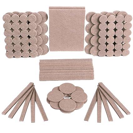 Almohadillas de fieltro para muebles, 128 unidades, color beige, almohadillas de fieltro para