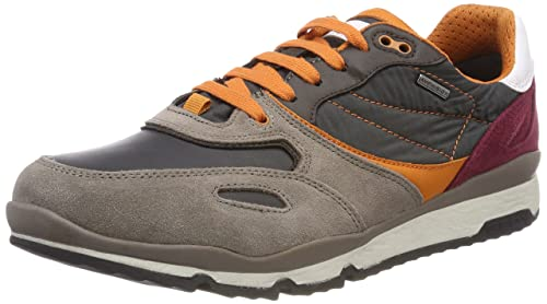 Geox Herren U Sandford B ABX A Sneaker, Grau (TaupeDk Grey