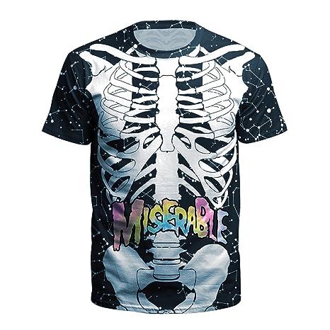 semen Homme T-Shirt Mode Imprimé 3D Bone Crâne Blouse Tee Top Haut Loose  Confort Vintage Casual Sport Vacances Printemps Eté  Amazon.fr  Vêtements  et ... 710849089b18