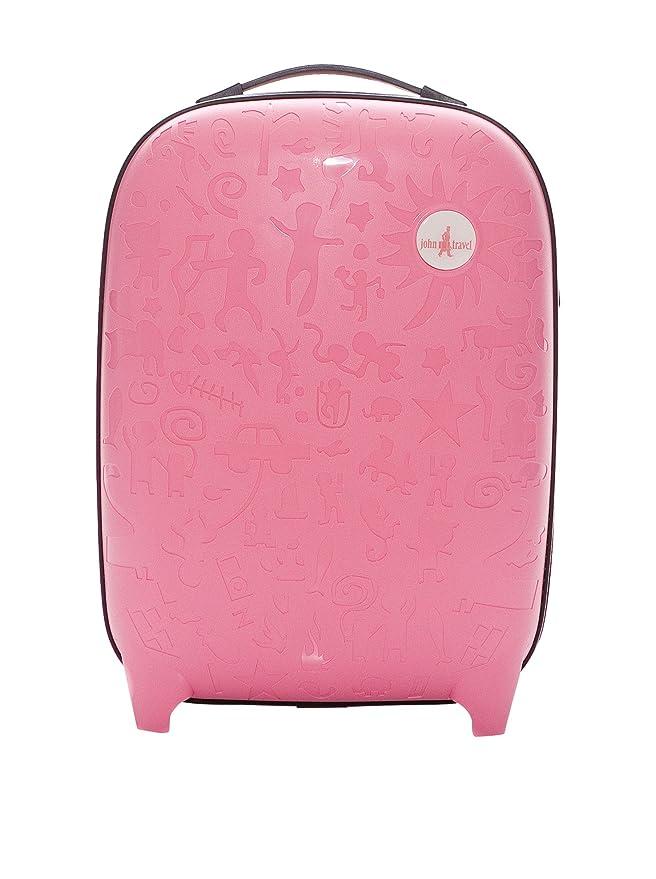 John Travel - Maleta rígida, dos ruedas, 54 cm, color rosa: Amazon.es: Equipaje