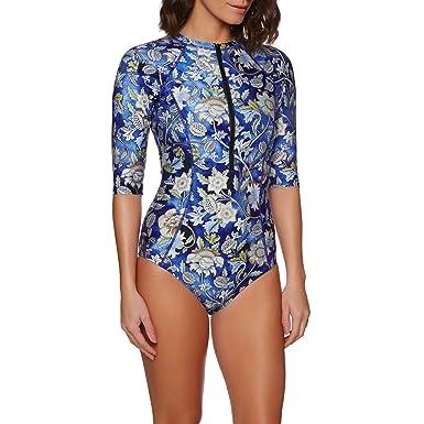 88e21b3e2b Nine Islands Zinnia Longsleeve Swimsuit 16 Reg Watercolour  Amazon.co.uk   Clothing