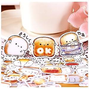 40pcs Creative Cute Self-Made Bread Story/Food Scrapbooking Stickers/Decorative Sticker/DIY Craft Photo Albums Kawaii