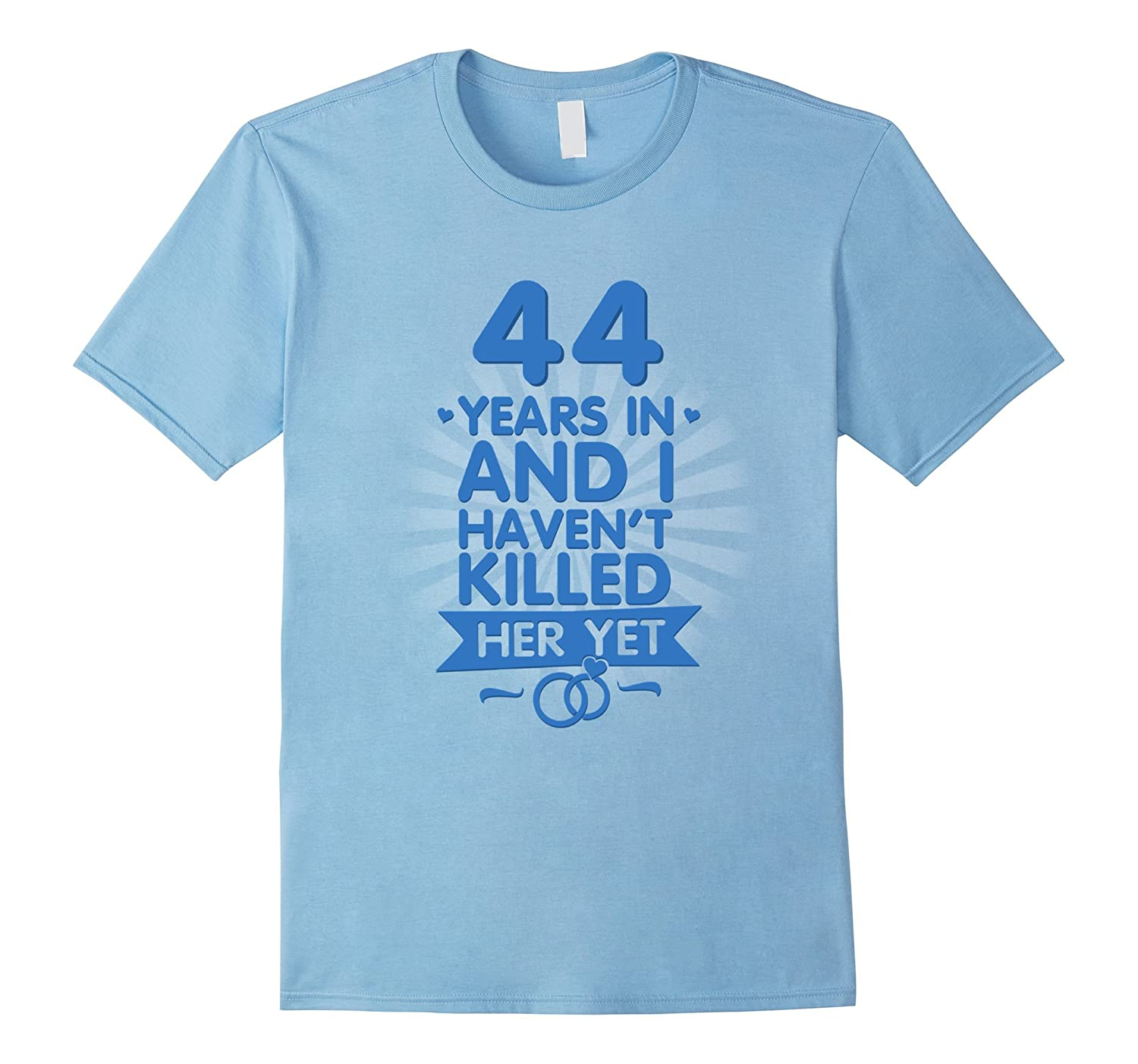 44 Years of Marriage Shirt 44th Anniversary Gift for Husband