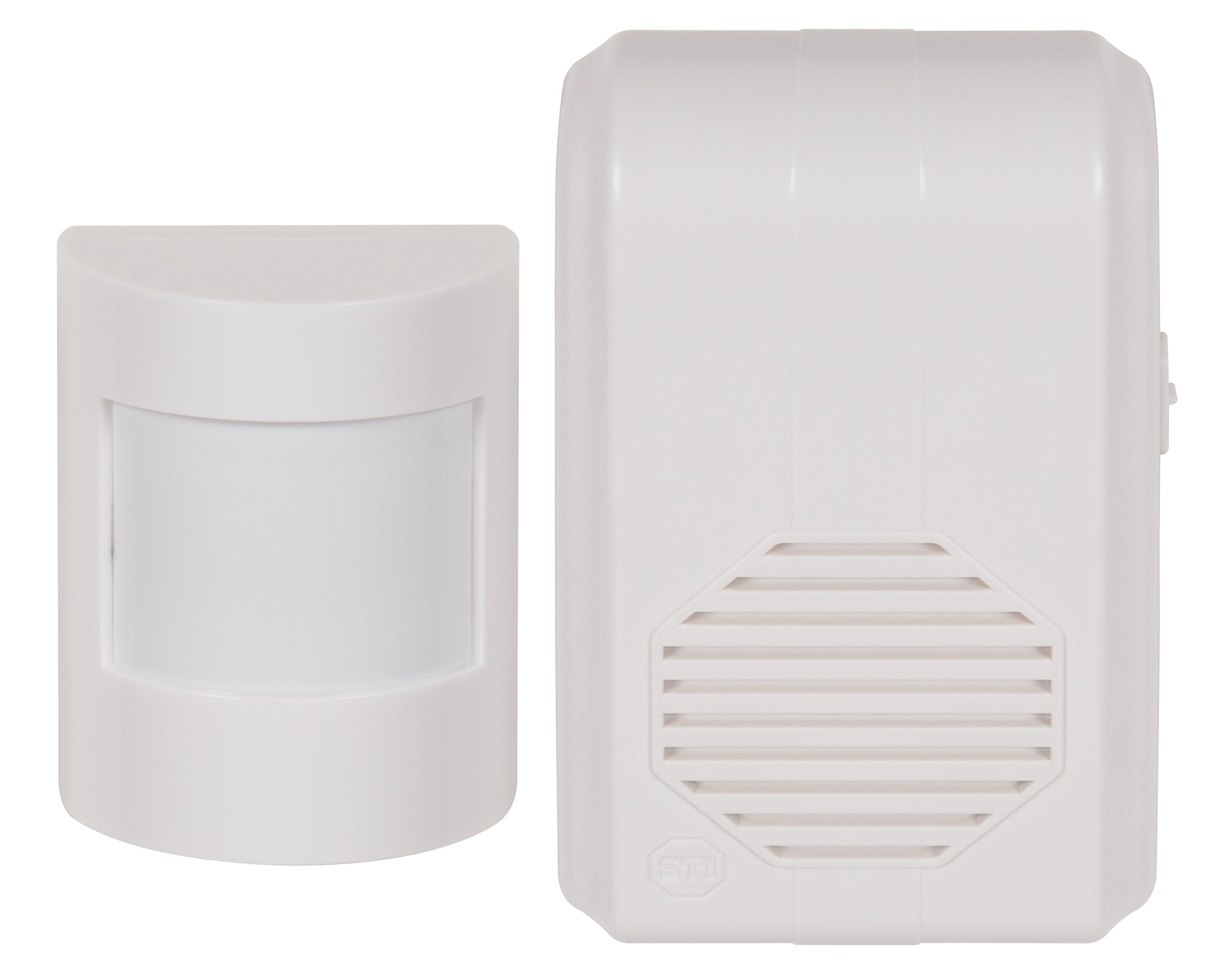 Safety Technology International, Inc. STI-3610 Wireless Motion-Activated Chime with Receiver 500' Range, Selectable Detection Zone 20' - 42'