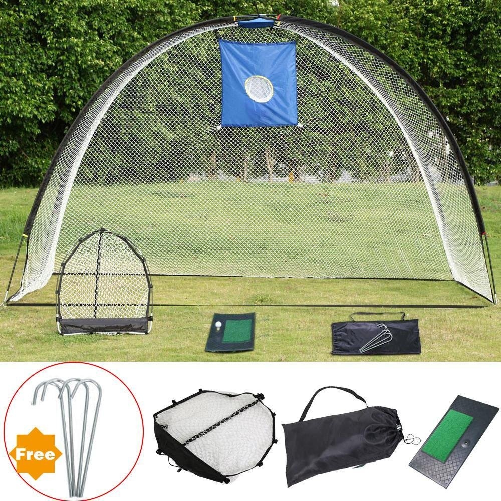 Yaheetech 3 in 1 Golf Practice Set Training Set Mat Driving Net Chipping Net- free 4 Nails by Yaheetech (Image #7)
