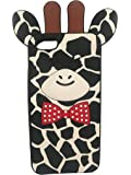 SKS Distribution® Black Silicone Cute Fun Animal Giraffe Case / Cover for Apple iPhone 5 / 5S / 5C / SE
