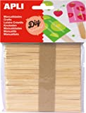 Apli Natural Wood Crafting Stick (Pack of 50)