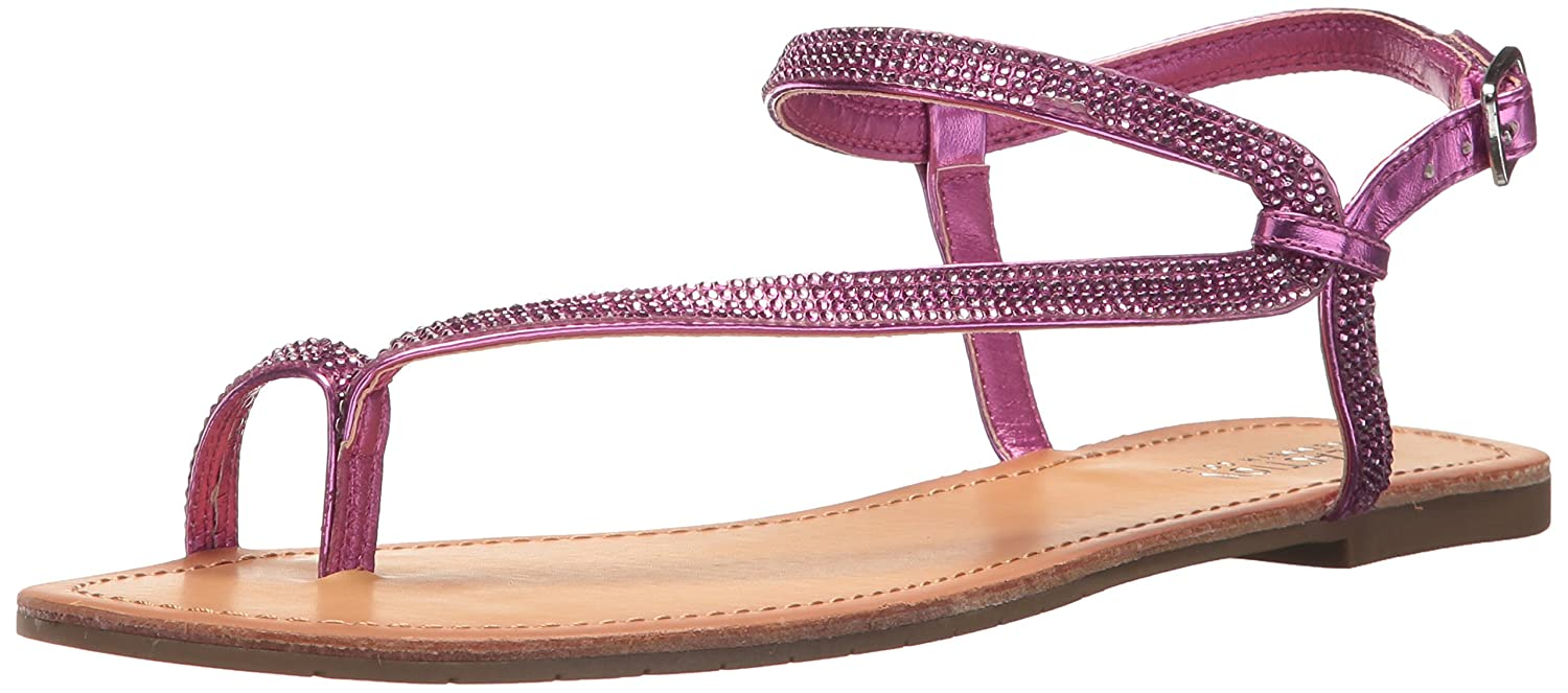 70d91643b2cc Amazon.com  Kenneth Cole REACTION Women s Just Braid Flat Sandal with Toe  Ring and Ankle Straps  Shoes