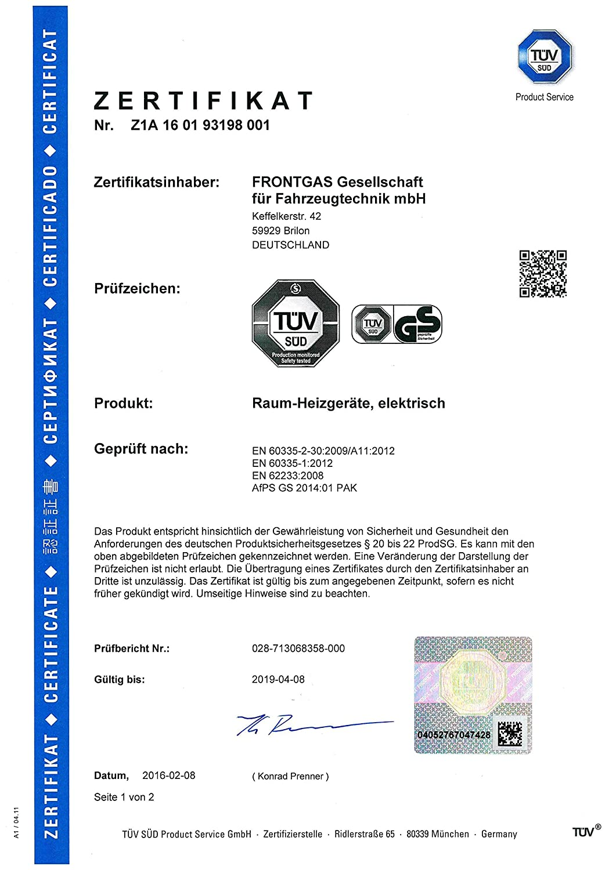 Infrarotheizung Infrarot 1100 Watt Metall-Premium Weiss Wand /& Deckenmontage Glasw/ärmt Heizung