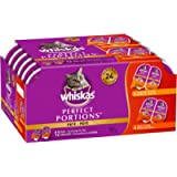 WHISKAS Perfect Portions Meaty Selections Adult Wet Cat Food Paté, 12x75g Tray