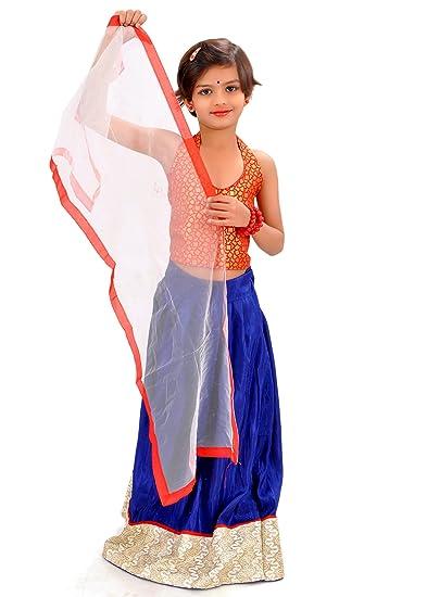 a6f55cd4e Arrow Fashion Baby Lehenga Choli (Blue   red)  Amazon.in  Clothing ...